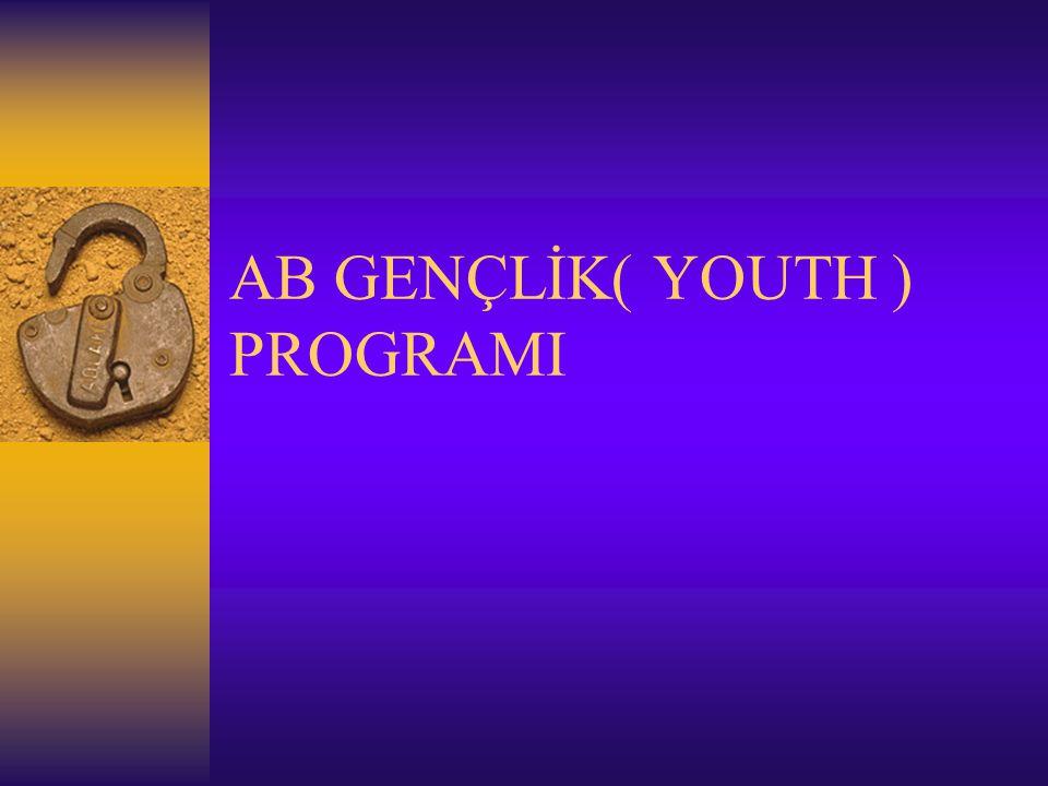 AB GENÇLİK( YOUTH ) PROGRAMI