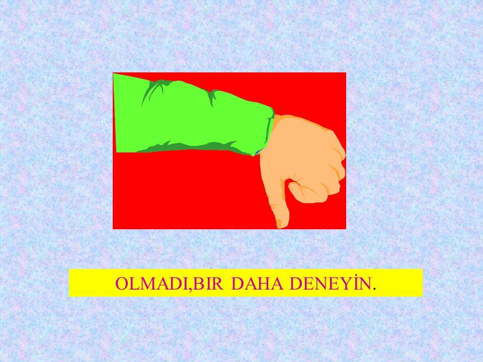 OLMADI,BIR DAHA DENEYİN.