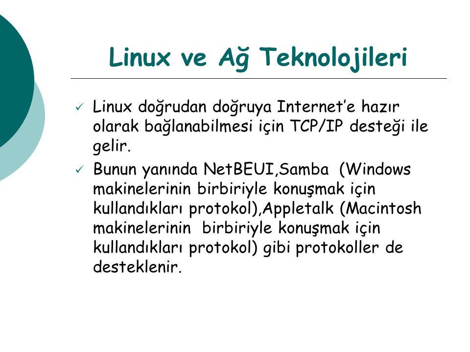 Linux ve Ağ Teknolojileri