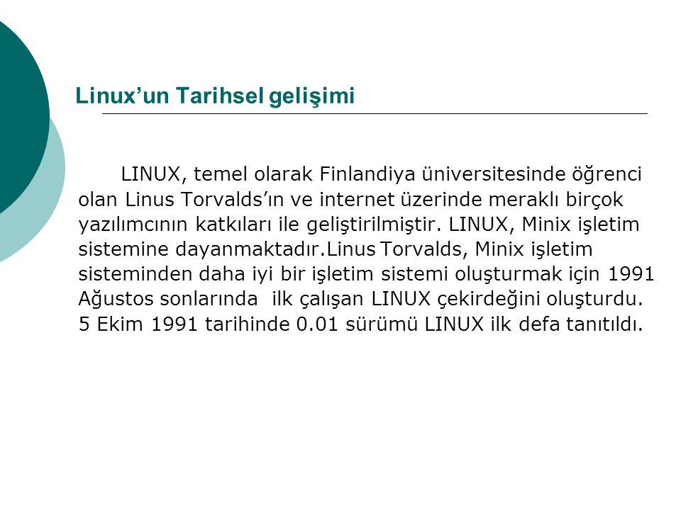 Linux'un Tarihsel gelişimi