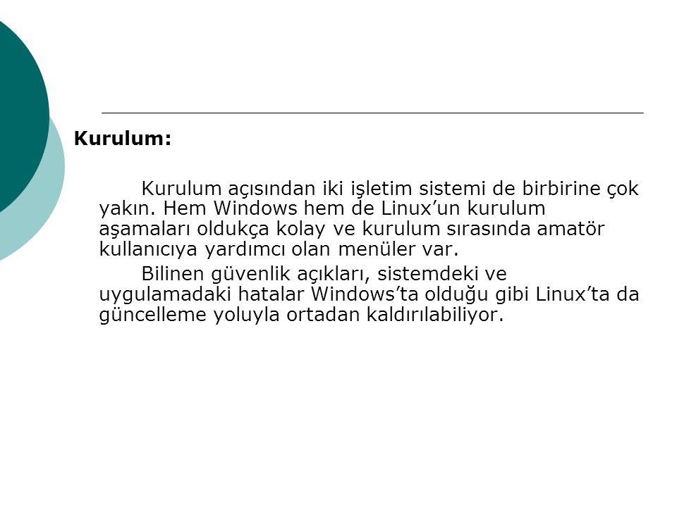 Kurulum: