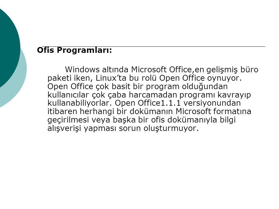 Ofis Programları: