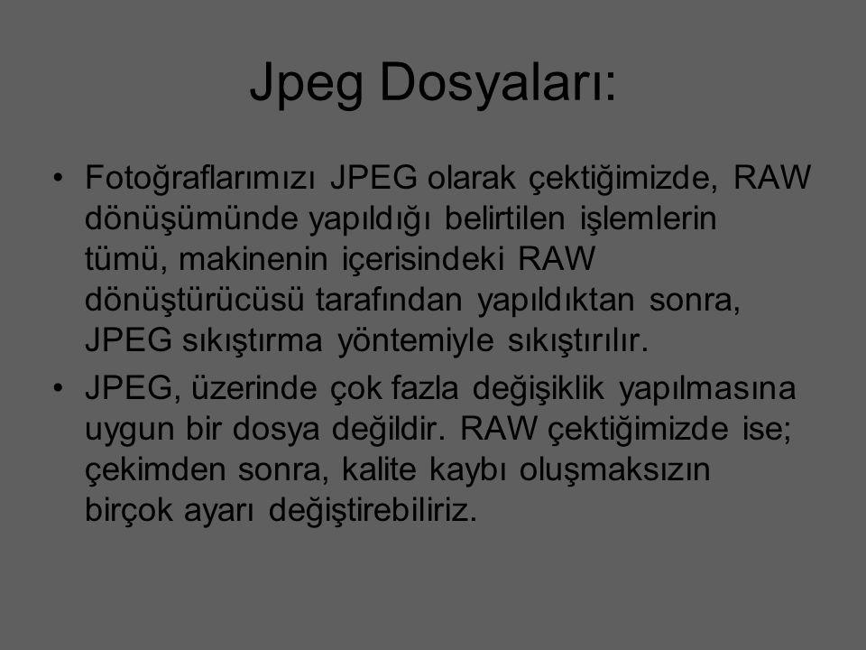 Jpeg Dosyaları: