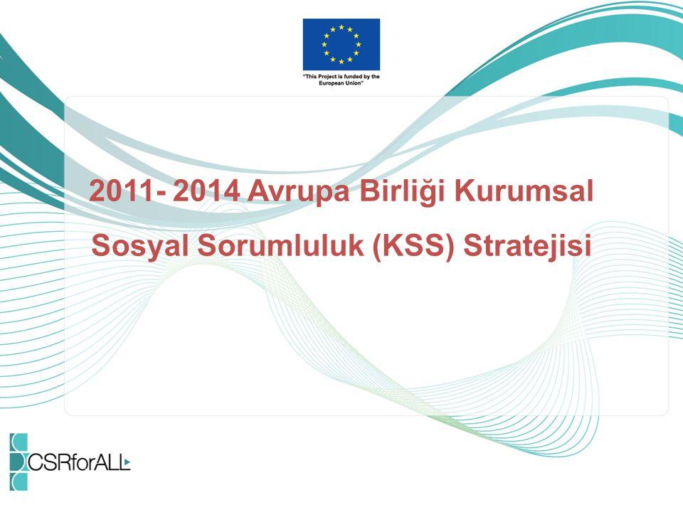 2011- 2014 Avrupa Birliği Kurumsal Sosyal Sorumluluk (KSS) Stratejisi