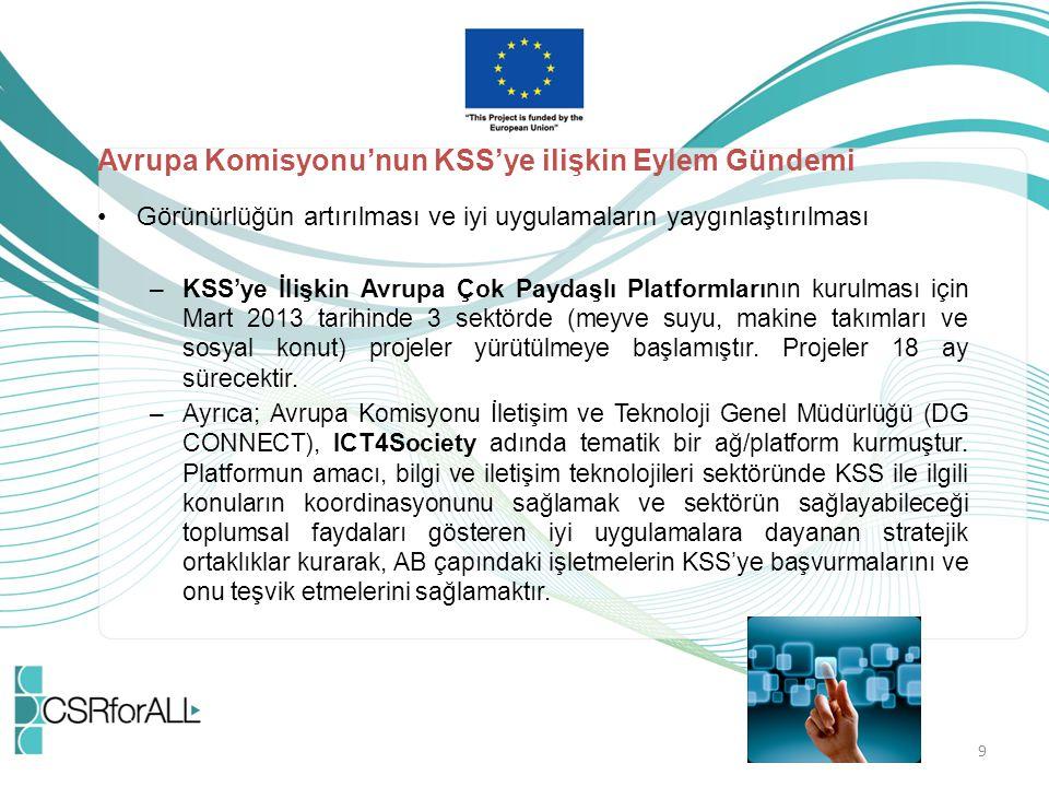 Avrupa Komisyonu'nun KSS'ye ilişkin Eylem Gündemi