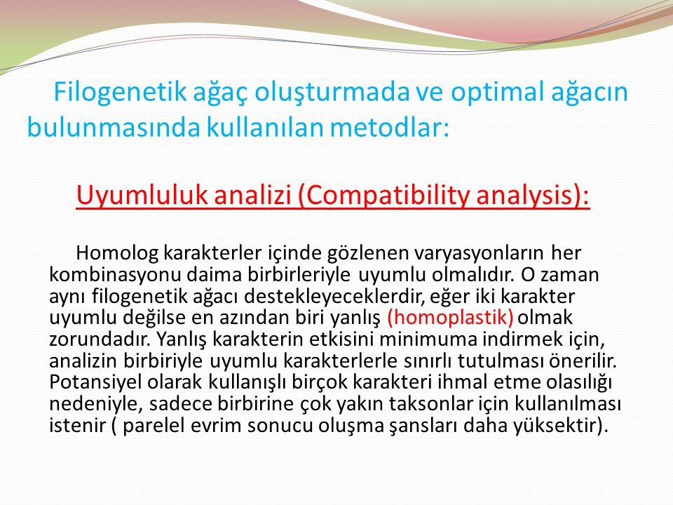 Uyumluluk analizi (Compatibility analysis):
