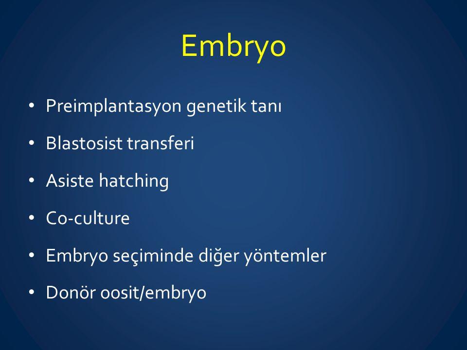 Embryo Preimplantasyon genetik tanı Blastosist transferi
