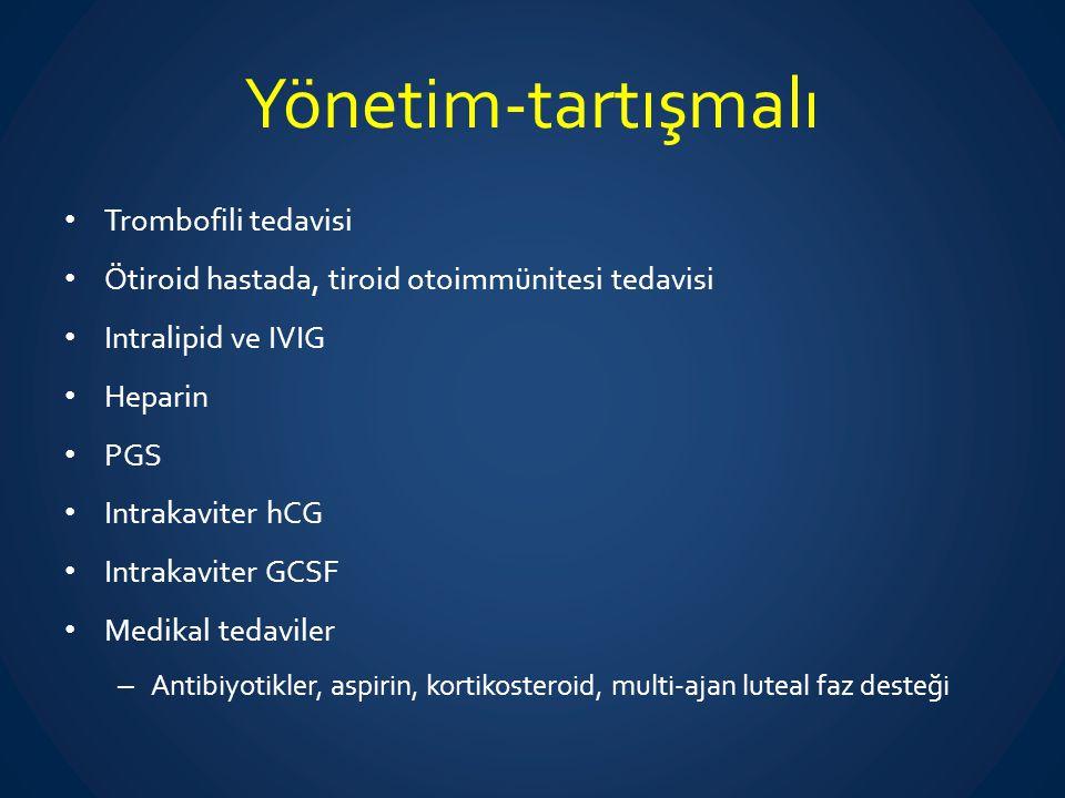 Yönetim-tartışmalı Trombofili tedavisi