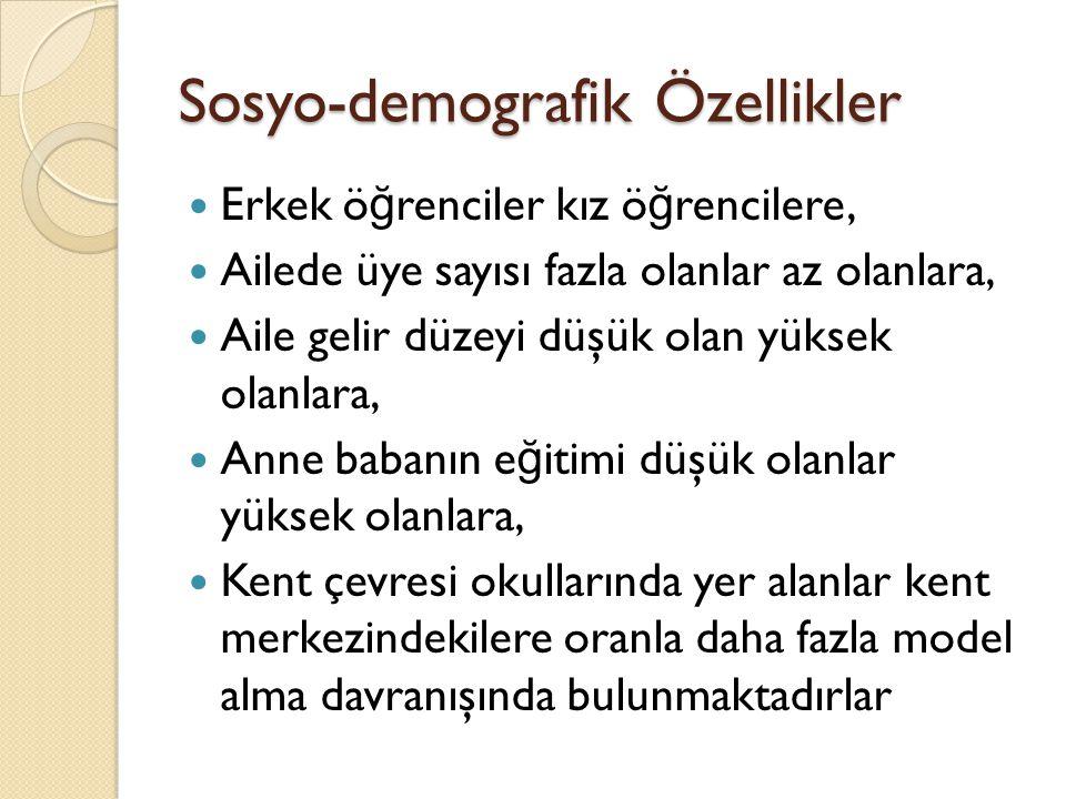 Sosyo-demografik Özellikler