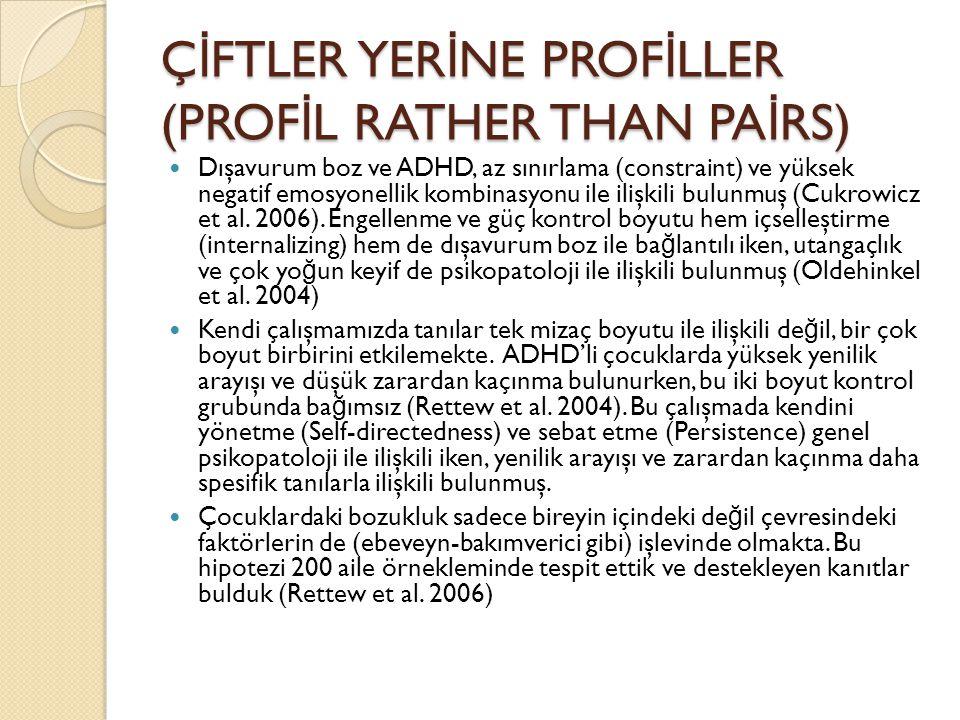 ÇİFTLER YERİNE PROFİLLER (PROFİL RATHER THAN PAİRS)