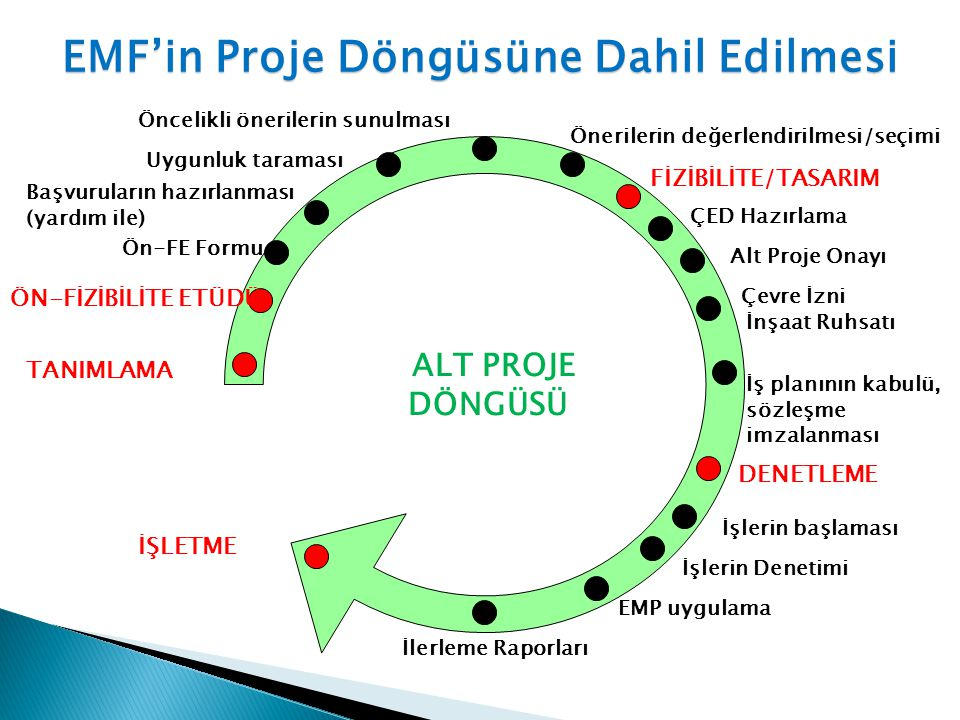 EMF'in Proje Döngüsüne Dahil Edilmesi