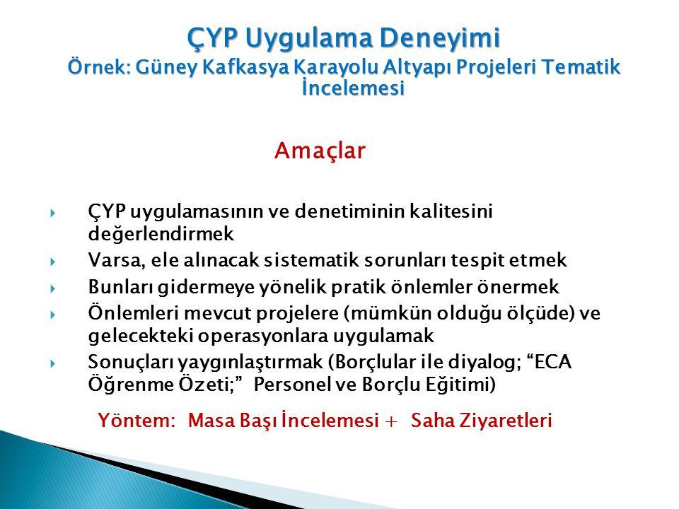 Örnek: Güney Kafkasya Karayolu Altyapı Projeleri Tematik İncelemesi