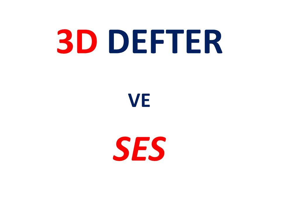 3D DEFTER VE SES