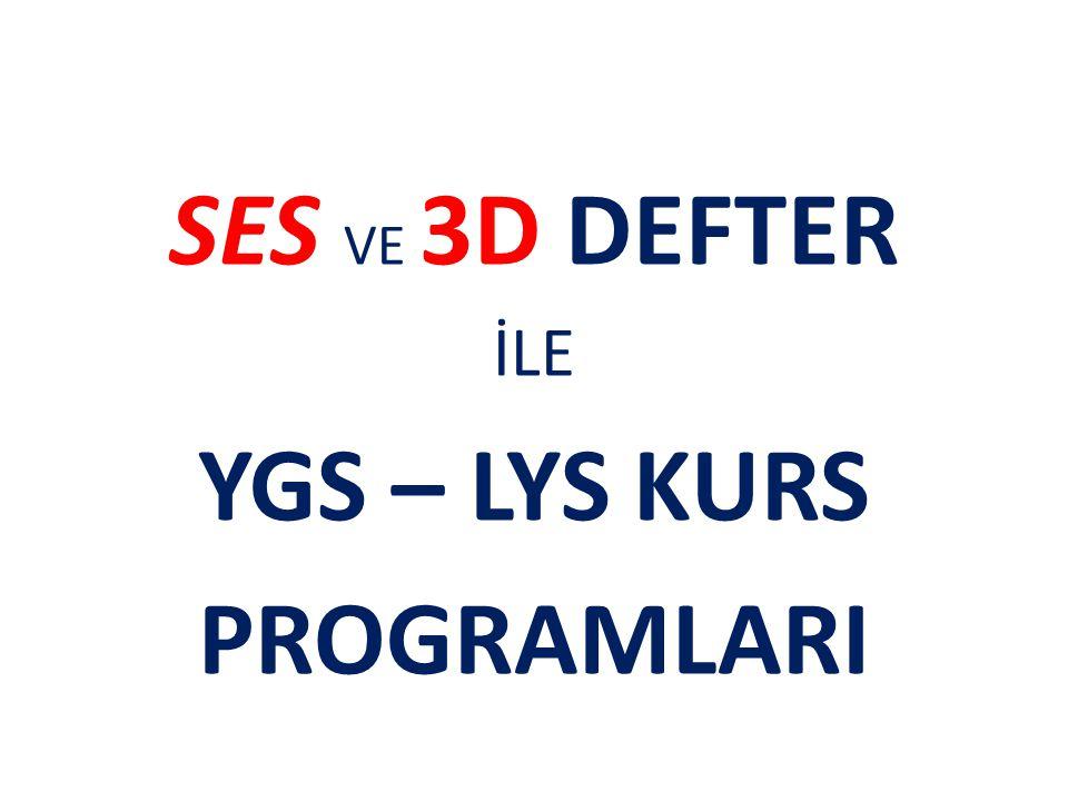 YGS – LYS KURS PROGRAMLARI