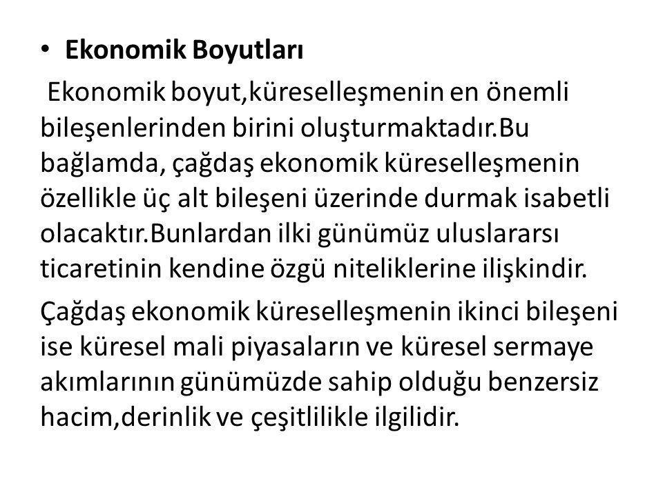 Ekonomik Boyutları