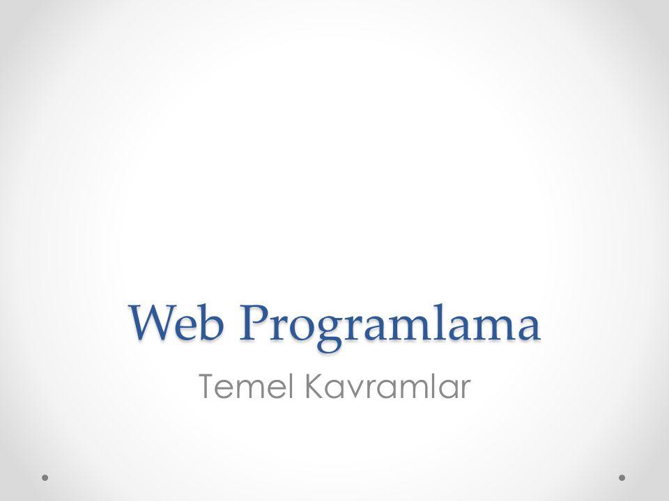Web Programlama Temel Kavramlar
