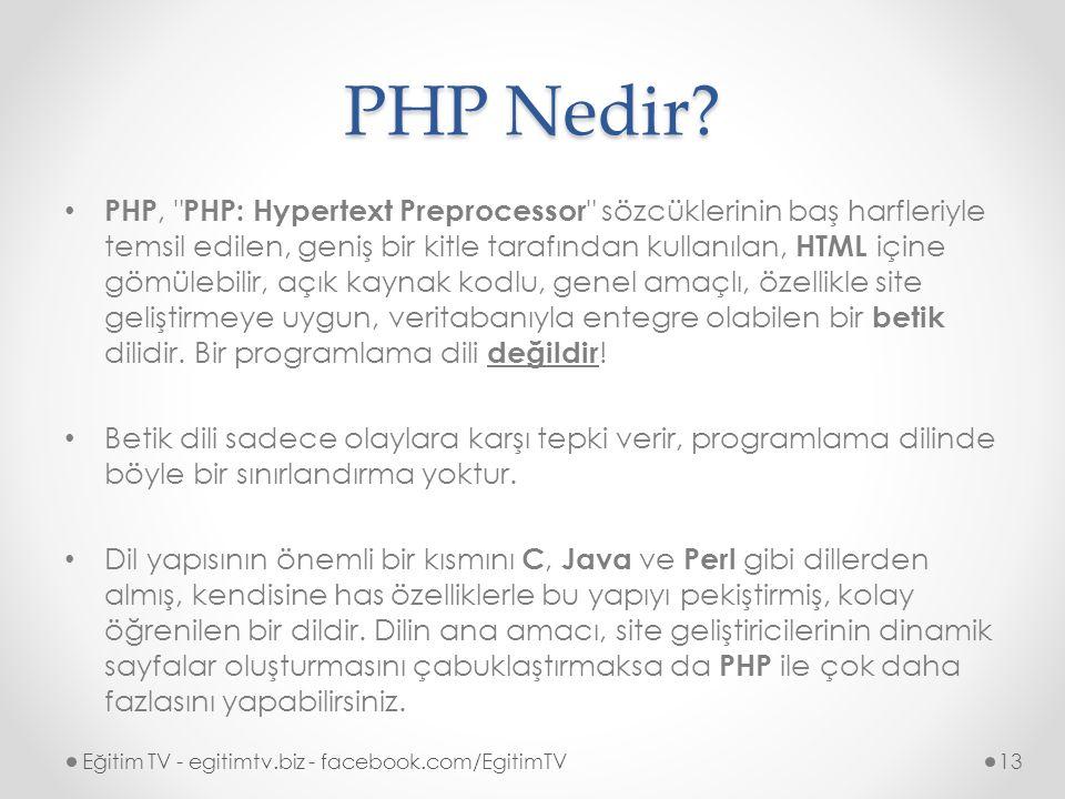 PHP Nedir