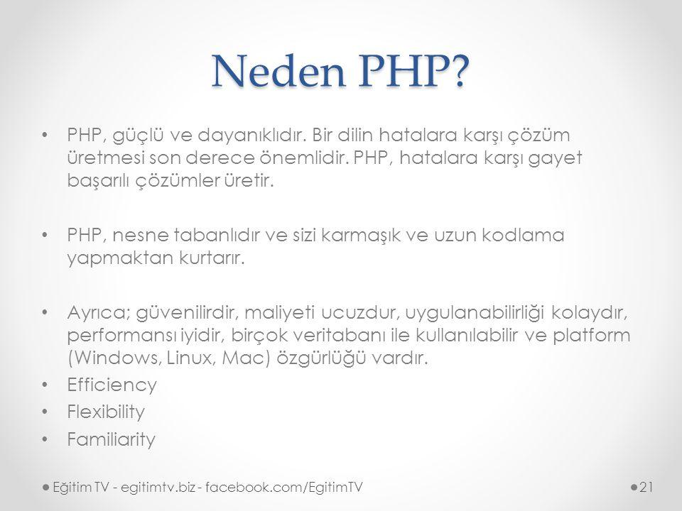 Neden PHP