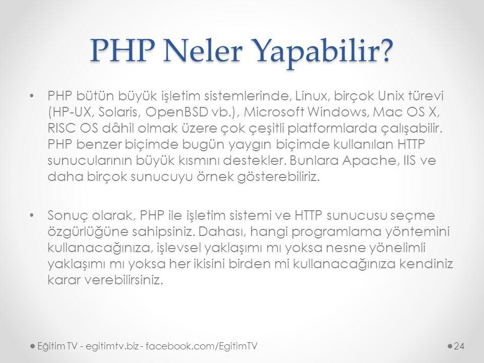 PHP Neler Yapabilir