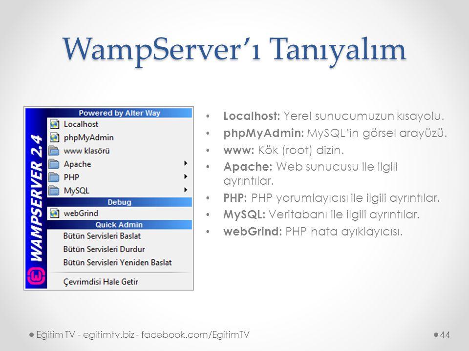 WampServer'ı Tanıyalım