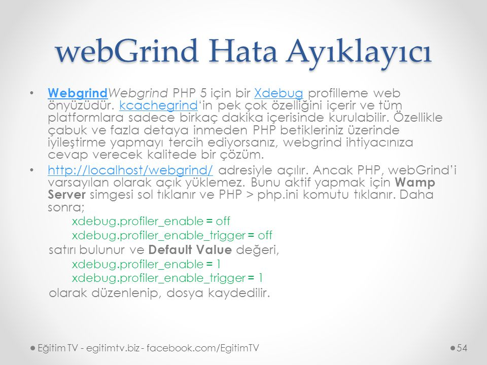 webGrind Hata Ayıklayıcı
