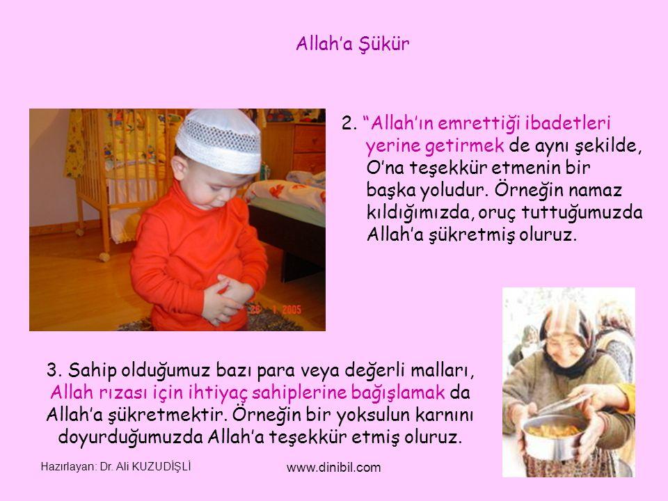 Allah'a Şükür