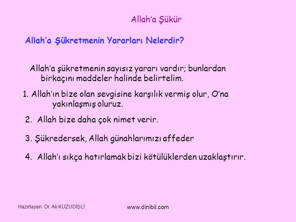 Allah'a Şükretmenin Yararları Nelerdir