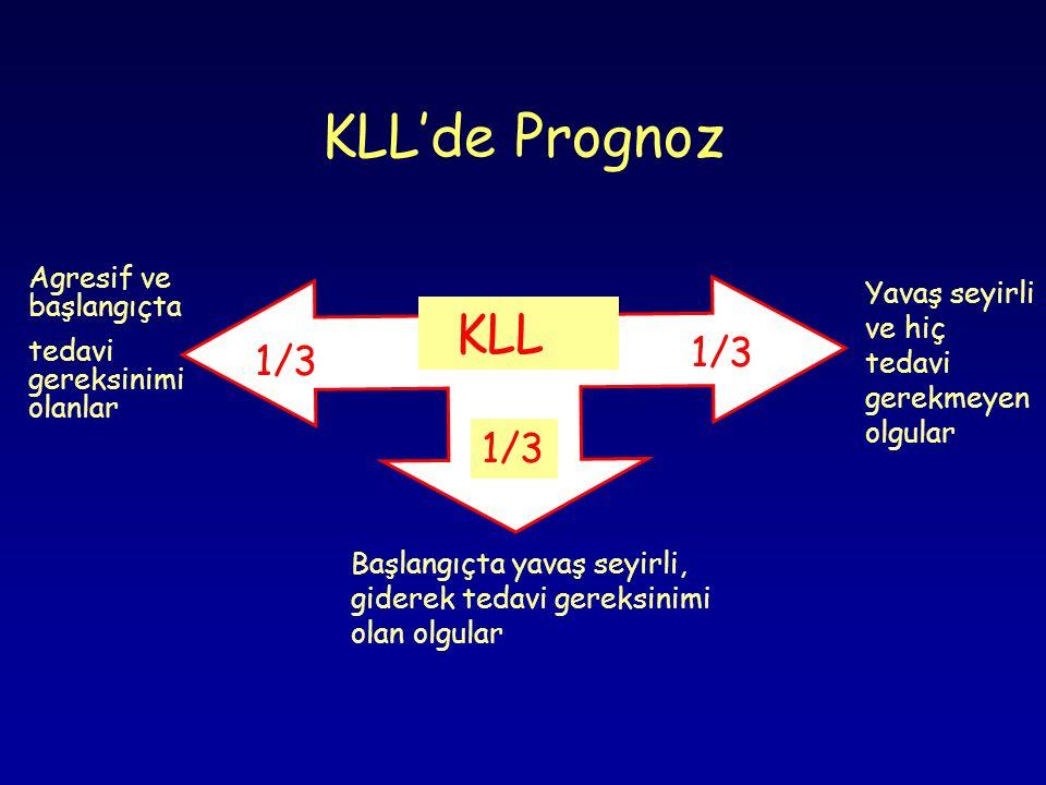 KLL'de Prognoz 1/3 1/3 1/3 Agresif ve başlangıçta