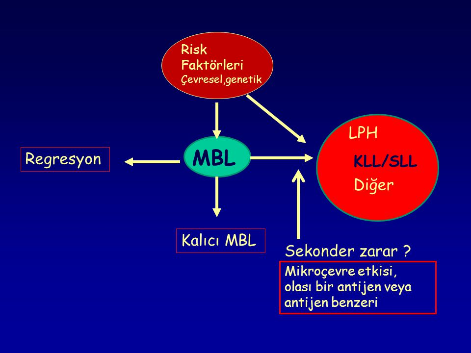 MBL LPH KLL/SLL Regresyon Diğer Kalıcı MBL Sekonder zarar
