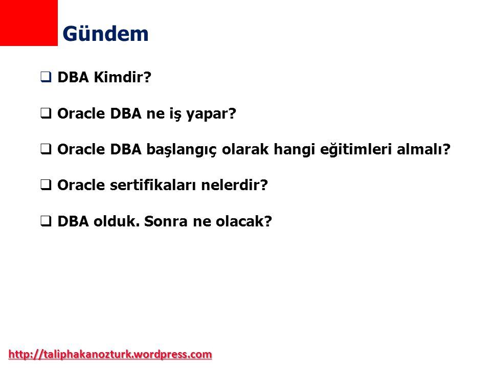 Gündem DBA Kimdir Oracle DBA ne iş yapar