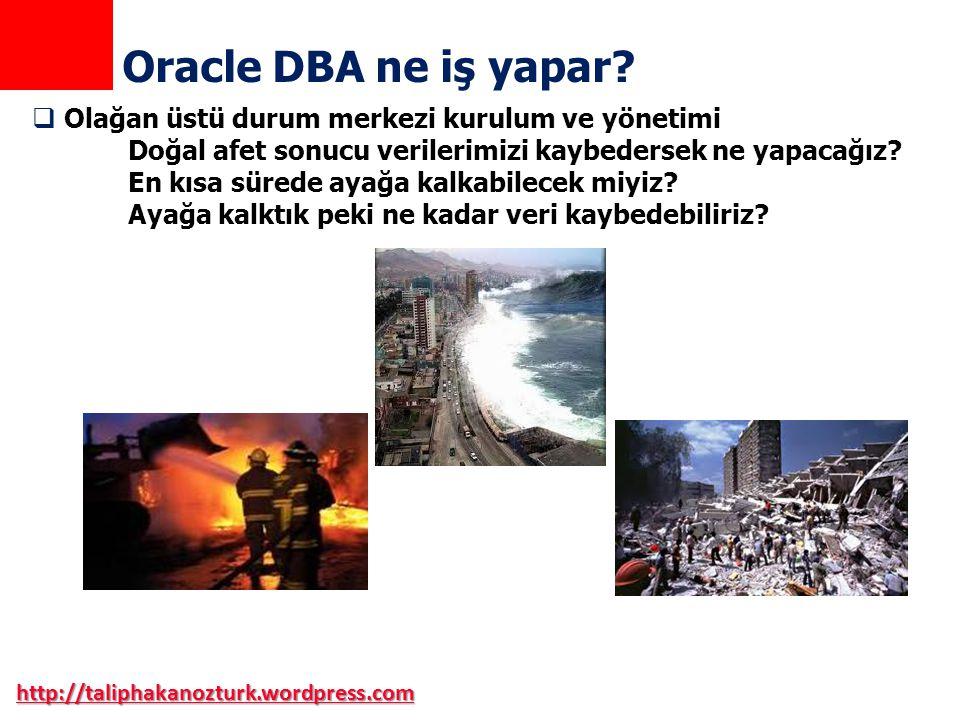Oracle DBA ne iş yapar Olağan üstü durum merkezi kurulum ve yönetimi