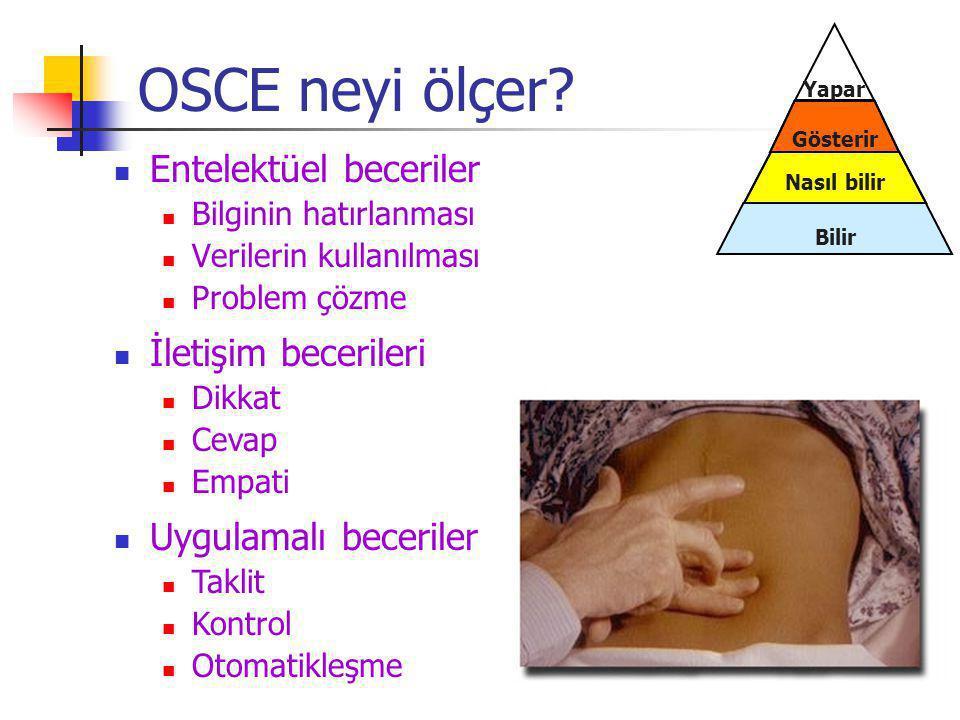 OSCE neyi ölçer Entelektüel beceriler İletişim becerileri