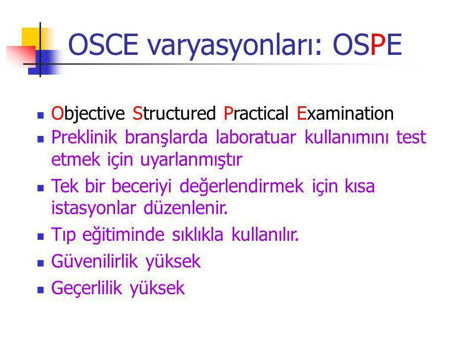 OSCE varyasyonları: OSPE