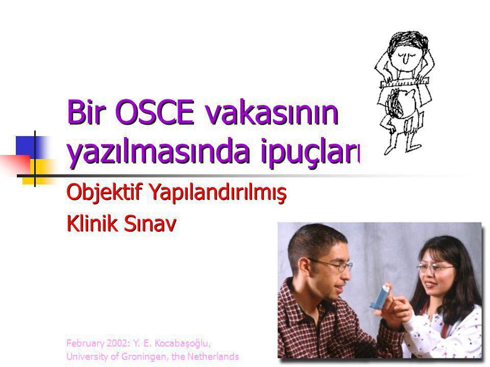 Bir OSCE vakasının yazılmasında ipuçları