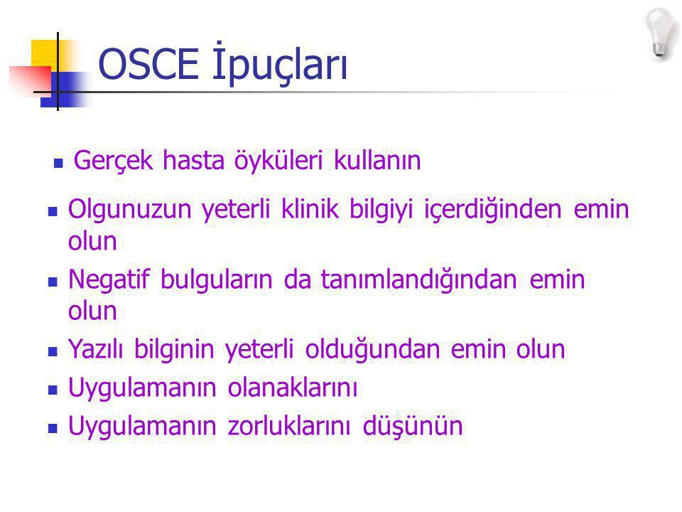 OSCE İpuçları Gerçek hasta öyküleri kullanın