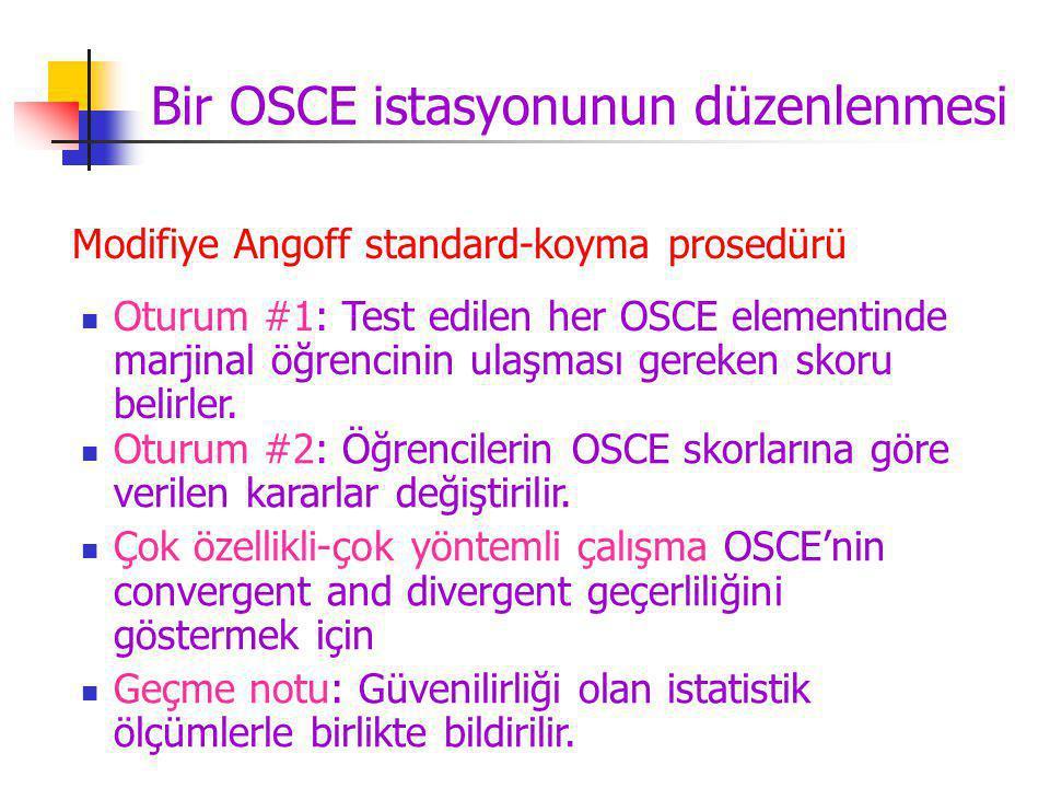Bir OSCE istasyonunun düzenlenmesi