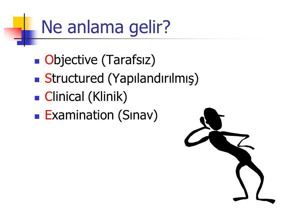 Ne anlama gelir Objective (Tarafsız) Structured (Yapılandırılmış)