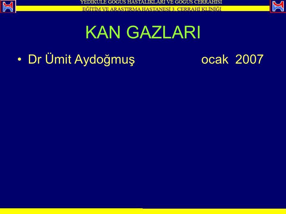 KAN GAZLARI Dr Ümit Aydoğmuş ocak 2007