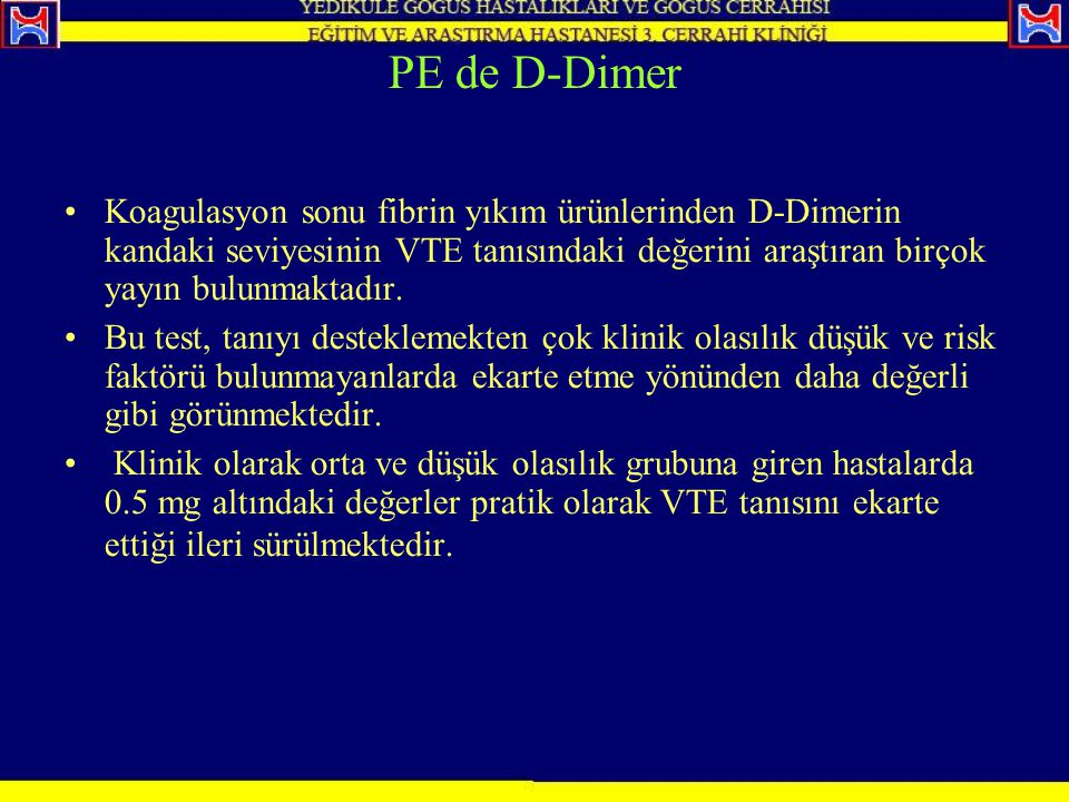PE de D-Dimer