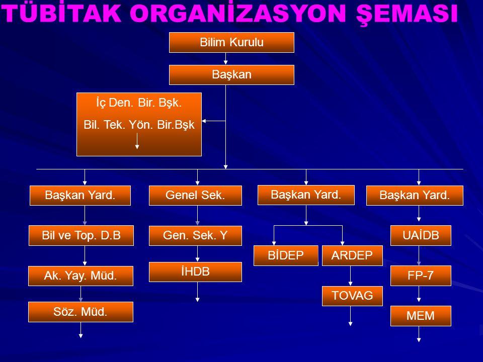 TÜBİTAK ORGANİZASYON ŞEMASI