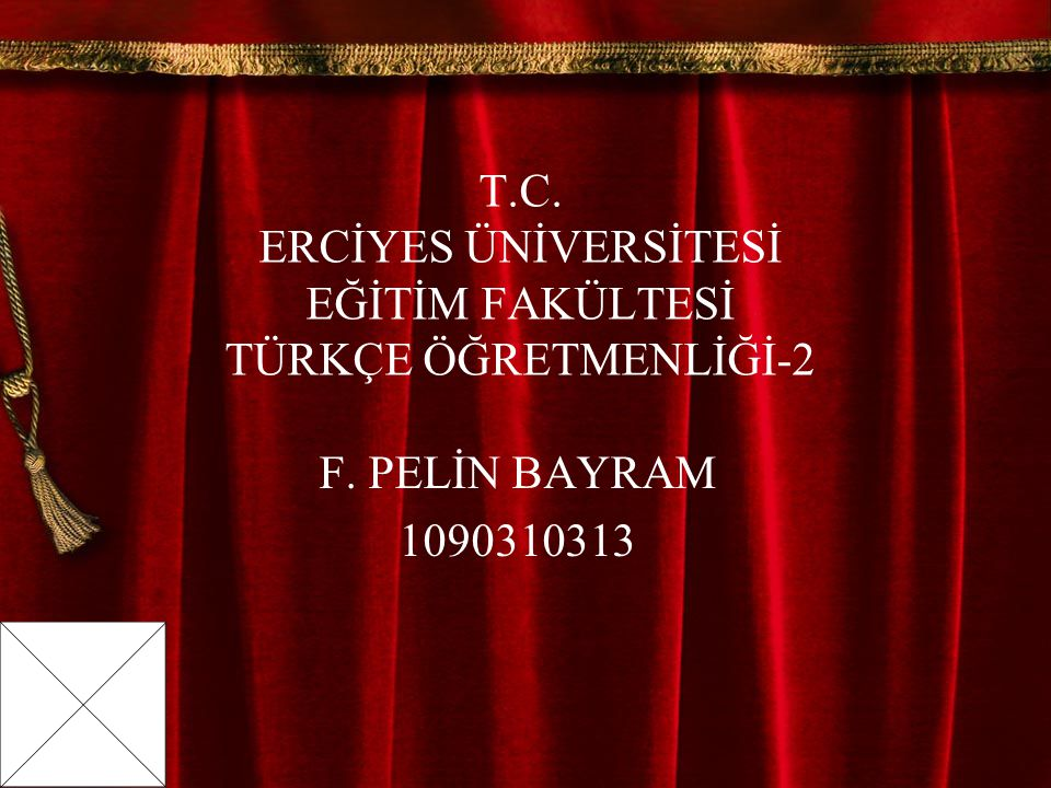 T.C. ERCİYES ÜNİVERSİTESİ EĞİTİM FAKÜLTESİ TÜRKÇE ÖĞRETMENLİĞİ-2