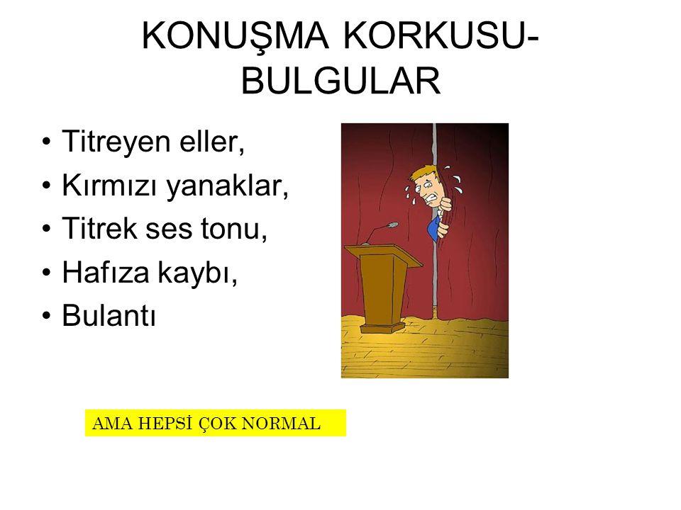 KONUŞMA KORKUSU-BULGULAR