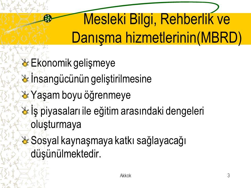 Mesleki Bilgi, Rehberlik ve Danışma hizmetlerinin(MBRD)
