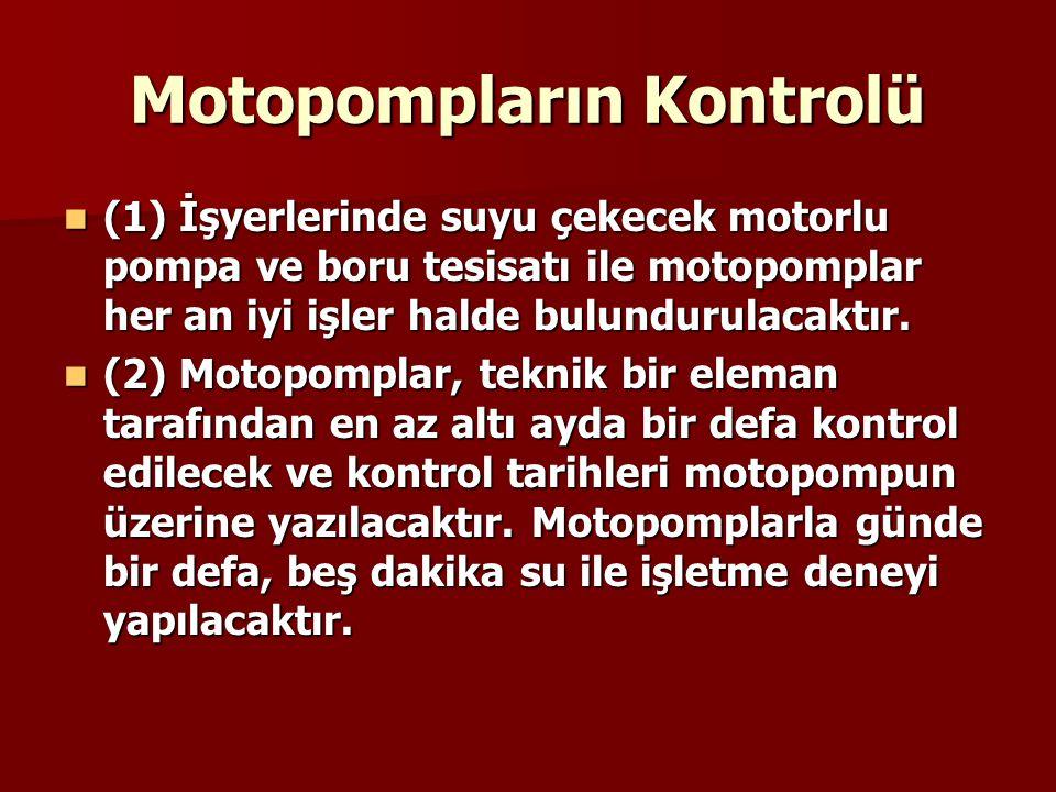 Motopompların Kontrolü