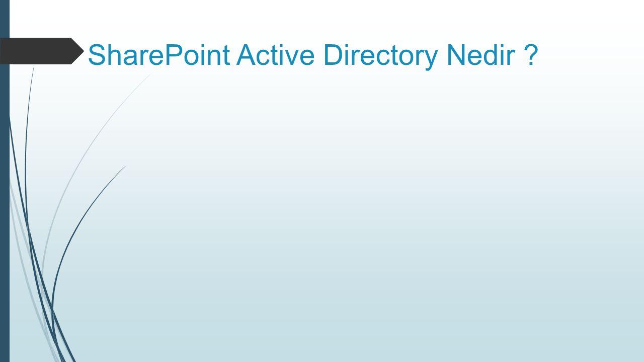 SharePoint Active Directory Nedir