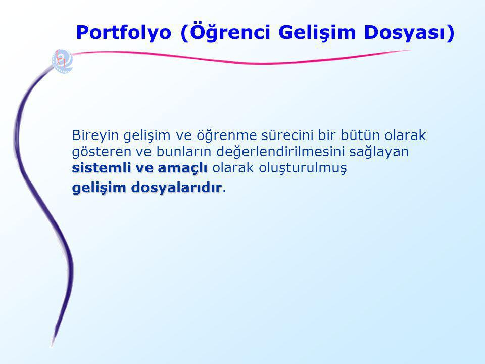 Portfolyo (Öğrenci Gelişim Dosyası)