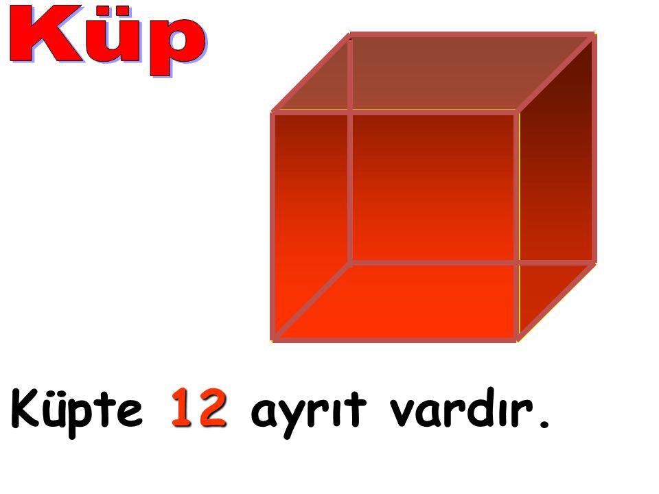 Küp Küpte 12 ayrıt vardır.