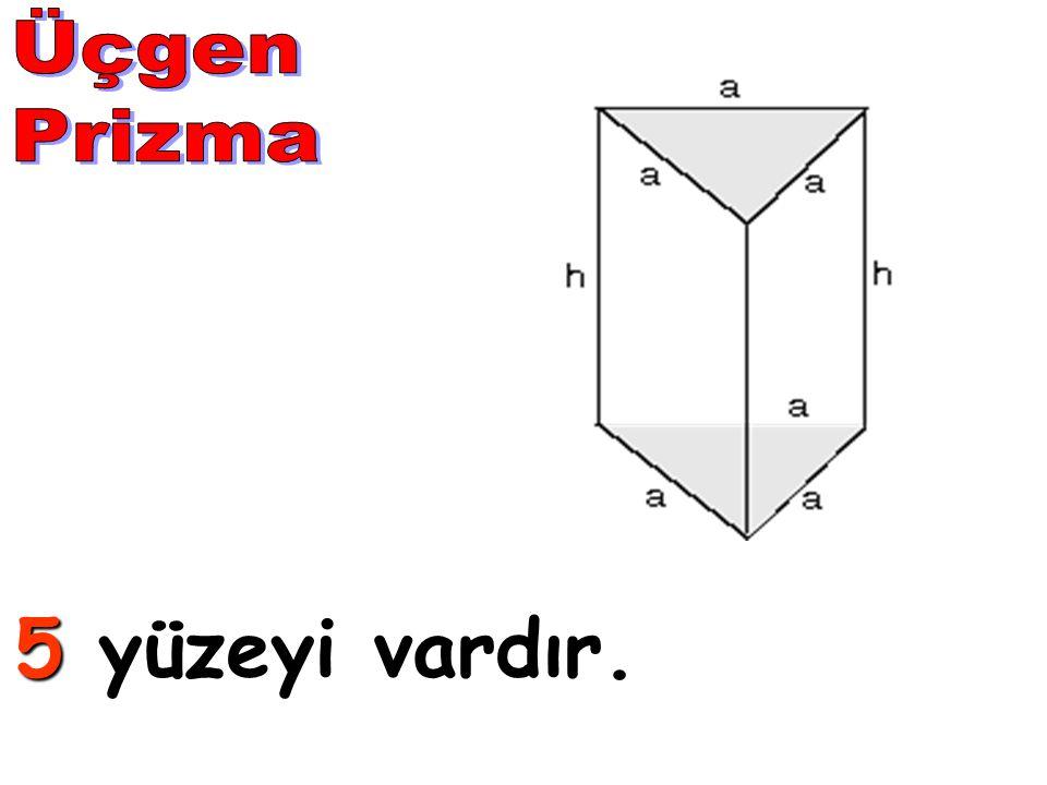 Üçgen Prizma 5 yüzeyi vardır.