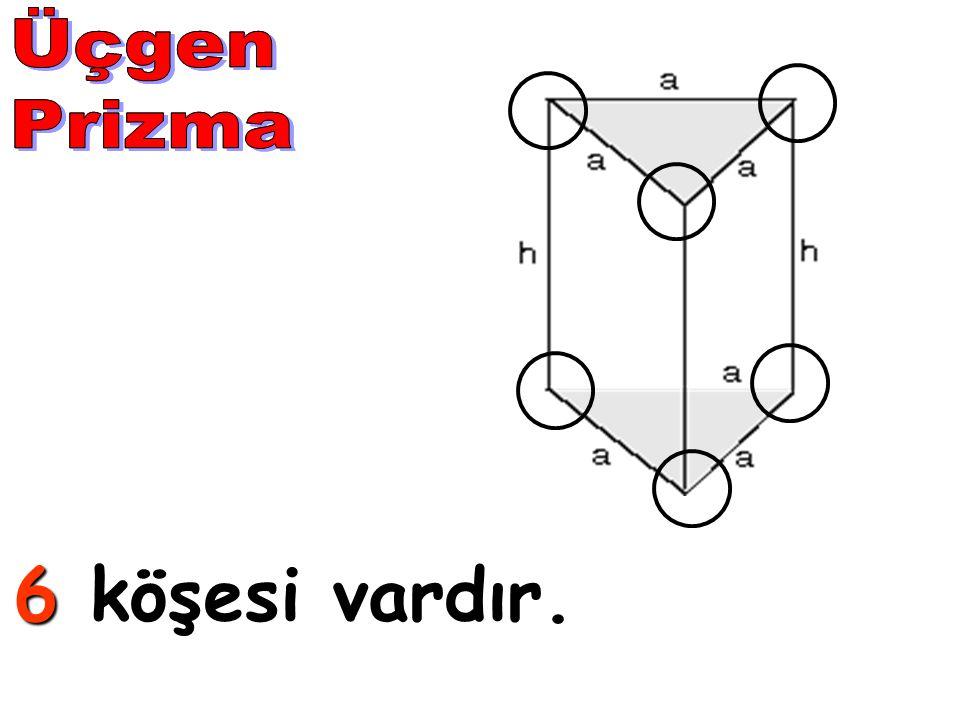 Üçgen Prizma Üçgen Prizma 6 köşesi vardır.