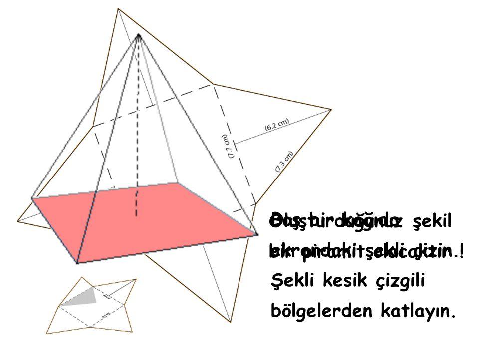 Oluşturduğunuz şekil bir piramit olacaktır !